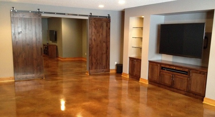 interior concrete floors st paul minneapolis mn acid stained concrete floors mn. Black Bedroom Furniture Sets. Home Design Ideas