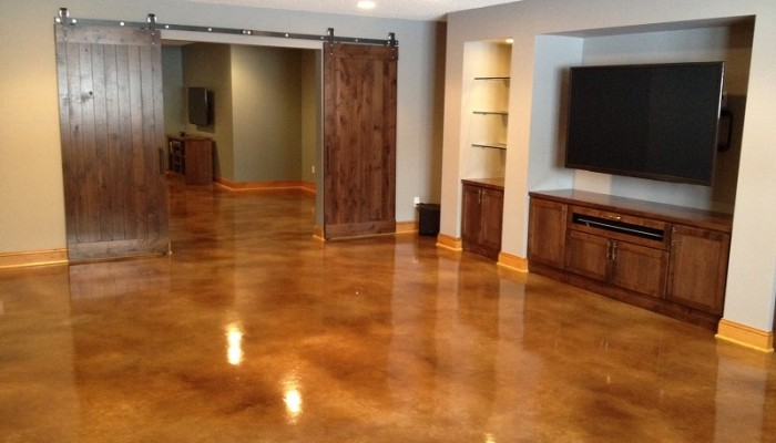 stained concrete floors cost vs tile staining diy south africa interior