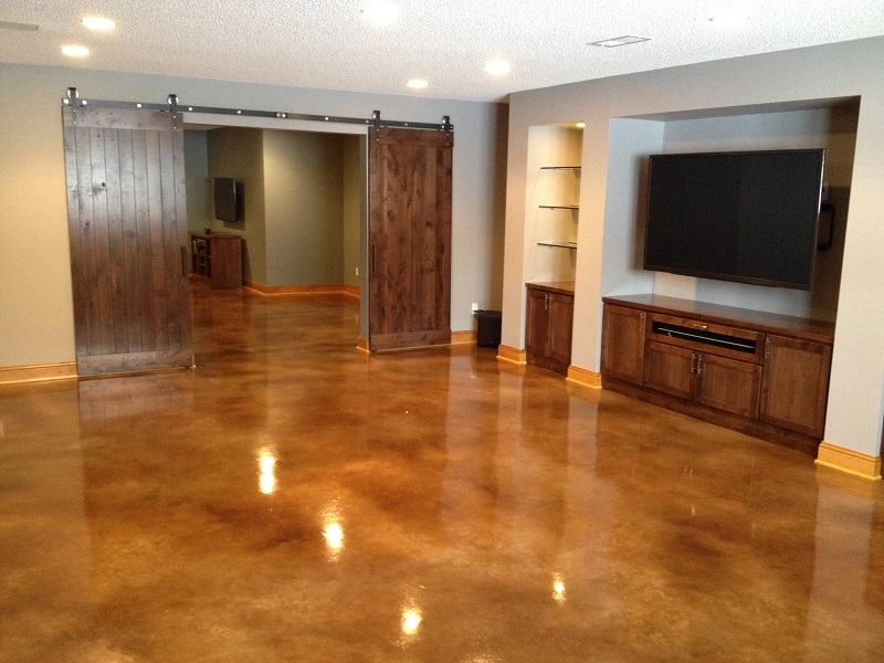 Stained concrete floors minneapolis st paul mn st for Indoor cement flooring